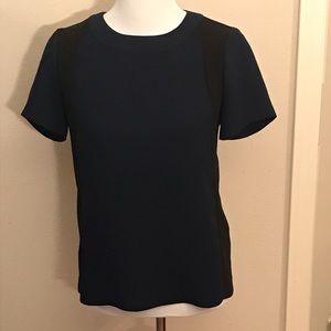 J Crew Short Sleeve Dressy Blouse Size 2 Blue